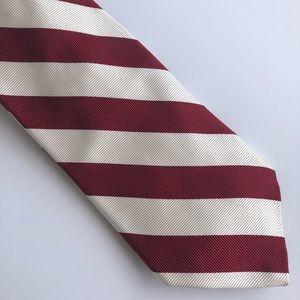 Robert Talbott Red and White Silk Necktie